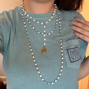 St Benedict medal trendy 3-loop necklace